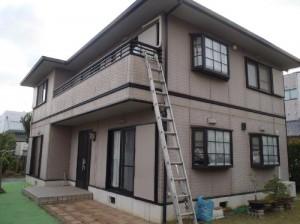 成田市の外壁塗装と屋根塗装の外壁の施工前写真