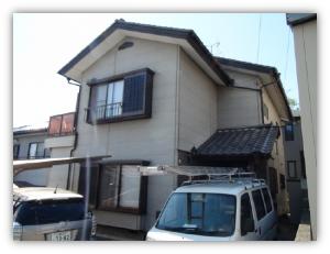 茨城県取手市 H様邸 外壁塗装と屋根塗装の外壁の施工前写真