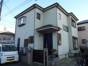 松戸市S様邸の外壁塗装と屋根塗装の外壁の施工前写真