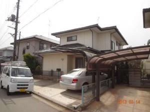 茨城県つくばみらい市 N様邸 外壁塗装と屋根塗装の外観の施工前写真