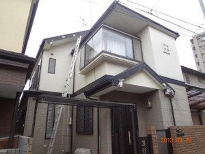 千葉県船橋市 U様邸 外壁塗装と屋根塗装の外観の施工前写真