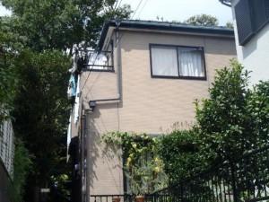 松戸市市の外壁塗装と屋根塗装の外観の施工前写真