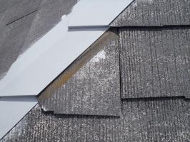 スレート屋根の割れ補修