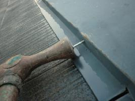 板金部の補強と下塗り