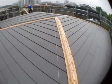 流山市M様 屋根材本体の施工
