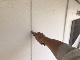 白井市集会場 外壁補修 コーキング打替え