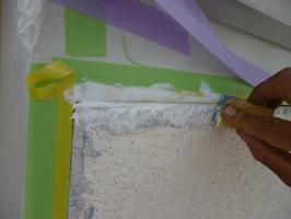 破風板と外壁の繋ぎ目を補修2