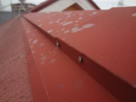 棟包みの釘の打ち込み