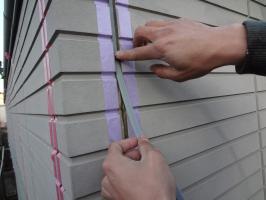 千葉県柏市O様邸の外壁塗装と屋根塗装工程:3面接着防止のボンドブレーカーテープ