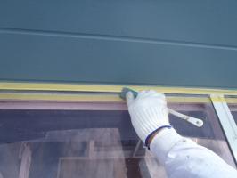 千葉県柏市O様邸の外壁塗装と屋根塗装工程:ベランダテラスのコーキング