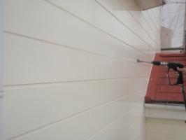 千葉県柏市K様邸の外壁塗装と屋根塗装工程:高圧洗浄