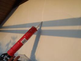千葉県松戸市A様邸の外壁塗装と屋根塗装工程:クラック補修