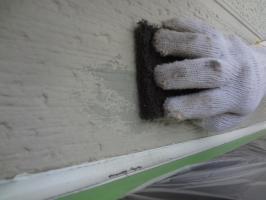 千葉県松戸市S様邸の外壁塗装と屋根塗装工程:ベランダ周辺の外壁劣化箇所
