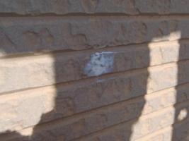 千葉県松戸市S様邸の外壁塗装と屋根塗装工程:パネルの釘処理(パテ処理)