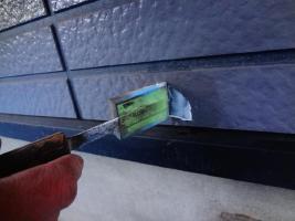 茨城県龍ヶ崎市K様邸の外壁塗装と屋根塗装工程:劣化箇所のパテ補修