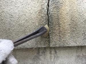 守谷市久K様邸 外壁のクラック補修