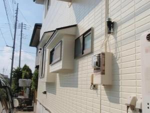 取手市の外壁塗装と屋根塗装の外壁の施工後写真