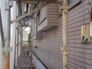 取手市の外壁塗装と屋根塗装の外壁の施工前写真
