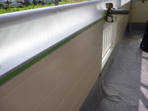 柏市K様邸の外壁塗装と屋根塗装の外壁の施工前写真