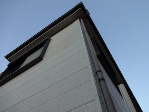 松戸市N様邸の外壁塗装と屋根塗装の外壁の施工前写真