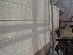 柏市の外壁塗装と屋根塗装の外壁の施工前写真