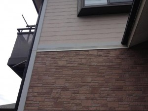 取手市 A様の外壁塗装と屋根塗装の外壁の施工前写真