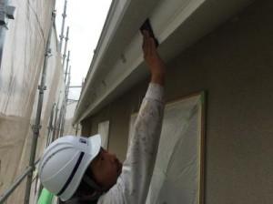 茨城県守谷市久保ヶ丘K様邸 破風板塗装1