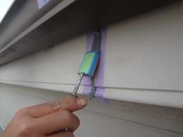 千葉県松戸市S様邸の外壁塗装と屋根塗装工程:コーキング打ち替え(完了)