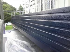 取手市O様邸の破風板塗装の施工後写真