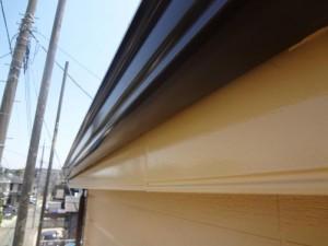 千葉県松戸市 S様邸 外壁塗装と屋根塗装の破風板の施工後写真