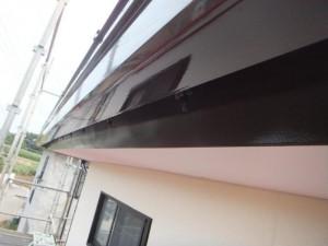 つくばみらい市の外壁塗装と屋根塗装の破風板の施工後写真