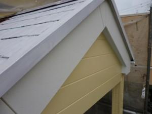 千葉県柏市 K様邸 外壁塗装と屋根塗装の破風板の施工前写真