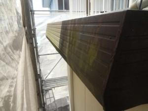 取手市O様邸の破風板塗装の施工前写真