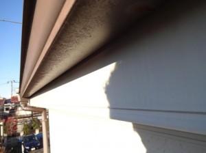 千葉県松戸市 S様邸 外壁塗装と屋根塗装の破風板の施工前写真