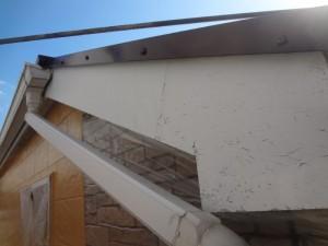 松戸市の外壁塗装と屋根塗装の破風板の施工前写真