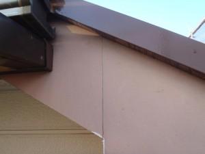千葉県柏市 O様邸 外壁塗装と屋根塗装の破風板の施工前写真