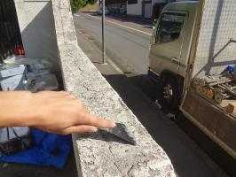 千葉県我孫子市H様邸の外壁塗装と屋根塗装工程:下塗り(ケレン)