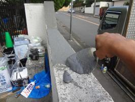 千葉県我孫子市H様邸の外壁塗装と屋根塗装工程:カチオンセメント