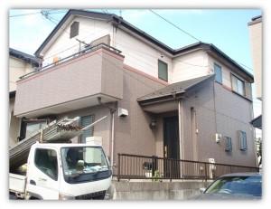 我孫子市の外壁塗装と屋根塗装の外観の施工前写真
