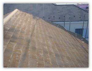 柏市N様邸の外壁塗装と屋根塗装の屋根の施工前写真
