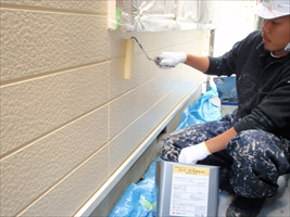 千葉県柏市和田様邸の外壁塗装と屋根塗装工程:無機コーティング