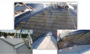 柏市の外壁塗装と屋根塗装の屋根の施工前写真