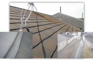 我孫子市の外壁塗装と屋根塗装の屋根の施工前写真