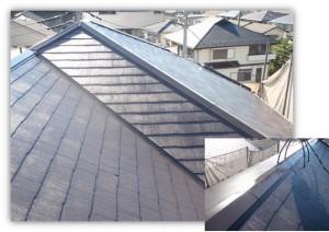 我孫子市の外壁塗装と屋根塗装の屋根の施工後写真