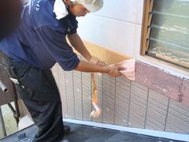 千葉県我孫子市U様邸の外壁塗装と屋根塗装工程:下処理