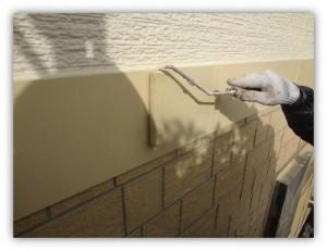 柏市の外壁塗装と屋根塗装の幕板の施工後写真