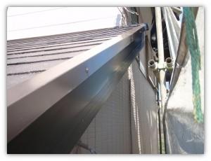 我孫子市の外壁塗装と屋根塗装の破風板の施工前写真