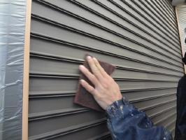 千葉県柏市M様邸の外壁塗装と屋根塗装工程:下処理