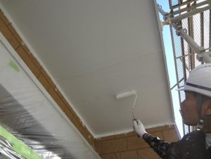 千葉県柏市M様邸の外壁塗装と屋根塗装工程:軒天