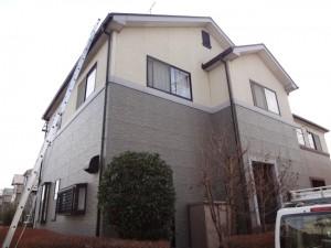 野田市市の外壁塗装と屋根塗装の外観の施工前写真